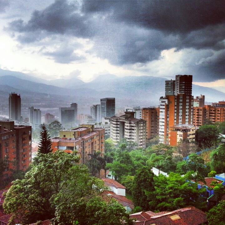 Tormenta en Medellín. Colombia