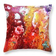 October Sun Throw Pillow by Kendra Carter