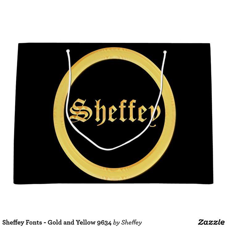 Sheffey Fonts - Gold and Yellow 9634