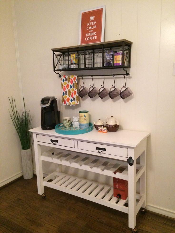 White Table Is From Nadeau Furniture And The Shelf Above Is From Hobby