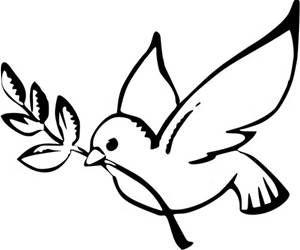 dove peace black white line art christmas xmas peace on earth peace ...