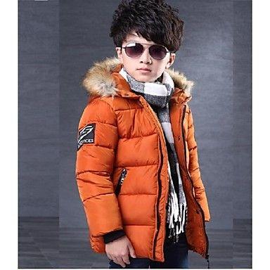 Boy's+120-160cm+Thick+Polyester+/+Rayon+Jacket+&+Coat+,+Winter+Long+Sleeve/Zipper/Hat+–+USD+$+29.90