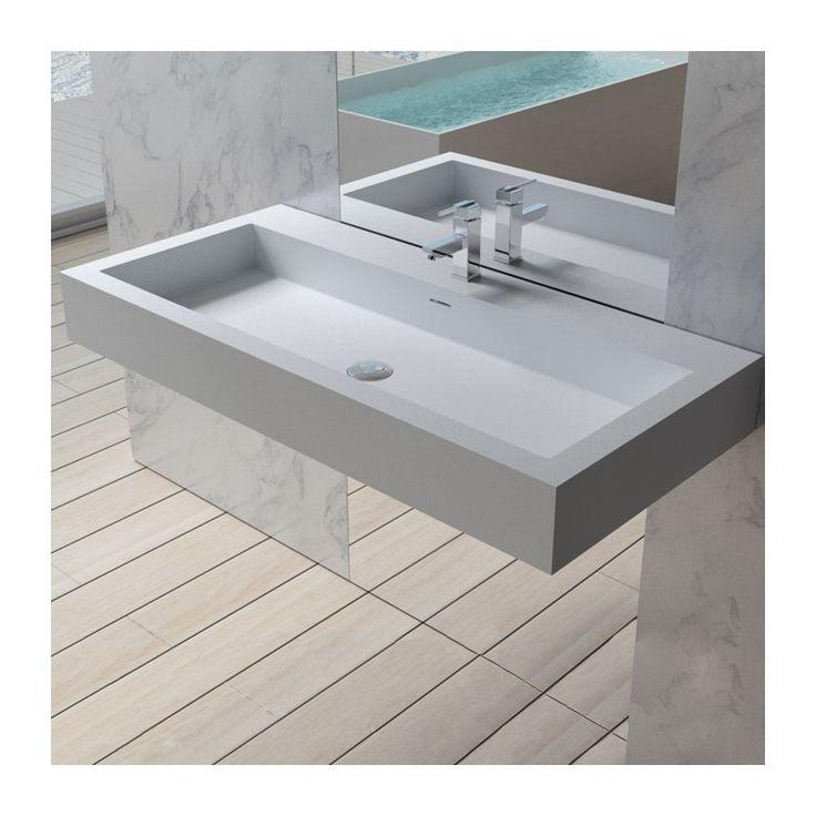 Plan Vasque Solid Surface Ref Sdpw83 Plan Vasque Vasque Et Vasque Rectangulaire