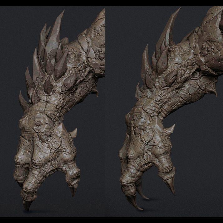 braço de monstro