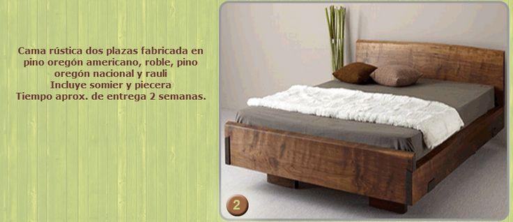 .::Camas de maderas Rústicas con finas terminaciones a medida y pedido::.