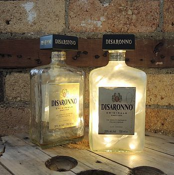 Empty liquor bottles for night lights
