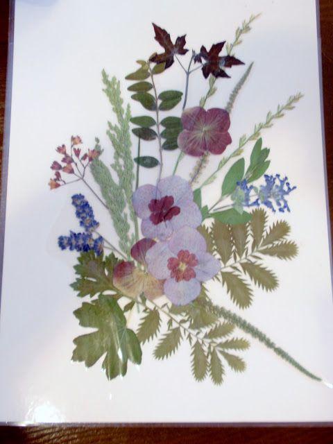 alles-vanellis: Landschap schilderij van gedroogde bloemen