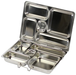 Rover Basic - Stainless Steel Lunch box...I LOVE this design. Part Bento Box part TV dinner! $39.95