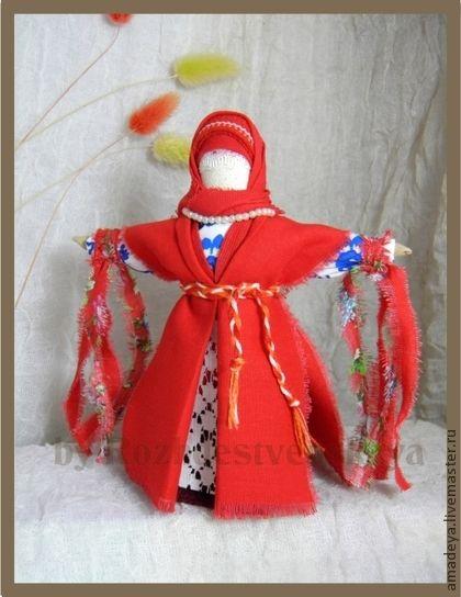 "Кукла Домашняя Масленица ""Дорогая наша Масленица..."" - интерьерная кукла"