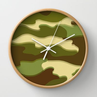 CAMO Wall Clock by Bruce Stanfield - $30.00