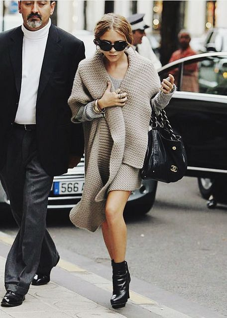 Chunky sweater.
