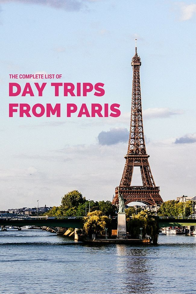 The complete list of day trips from Paris. Choose from castles and palaces, gourmet day trips, parks and gardens, city trips and military history.