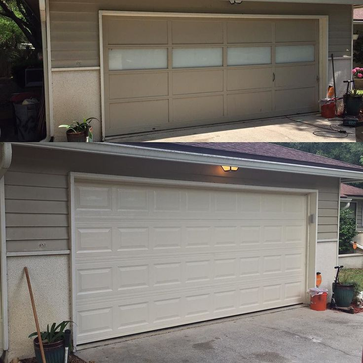 SHOP UGRADE Finally got a new garage (shop) door. It was SO needed. The old wood one had cheap windows (easy access point for thieves) had multiple rot spots and would take 5 tries (up-down) to close. New one is insulated has a @liftmaster belt drive (8500W) motor with #MyQ wifi tech. So quiet! Ill post a video. #liftmaster #liftmaster8500 #beltdrive #wifiremote #shopupgrade #newgaragedoor #garage #insulateddoor #secure #safetools #woodwork #build de builtby_n8