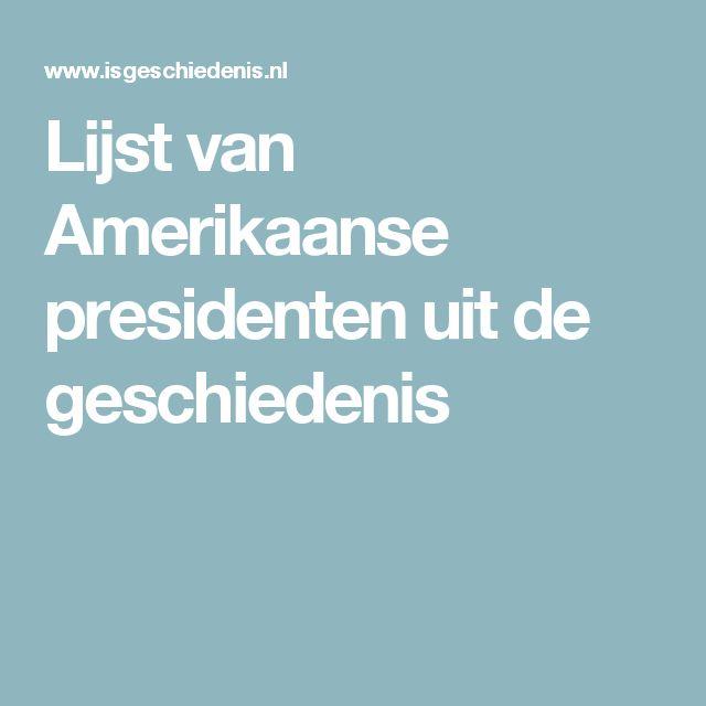Lijst van Amerikaanse presidenten uit de geschiedenis