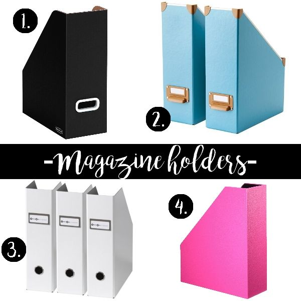 Chic magazine holders for your workspace! #chic #feminine #workspace #homeoffice