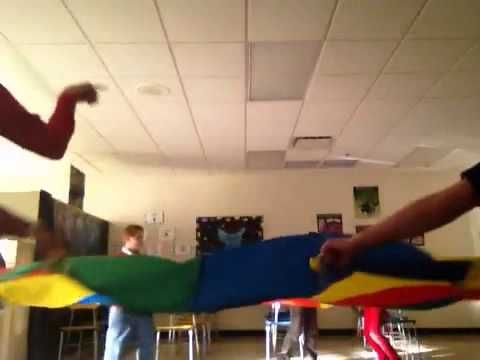 Nutcracker Parachute Dance... I actually did this for my Educare practicum!