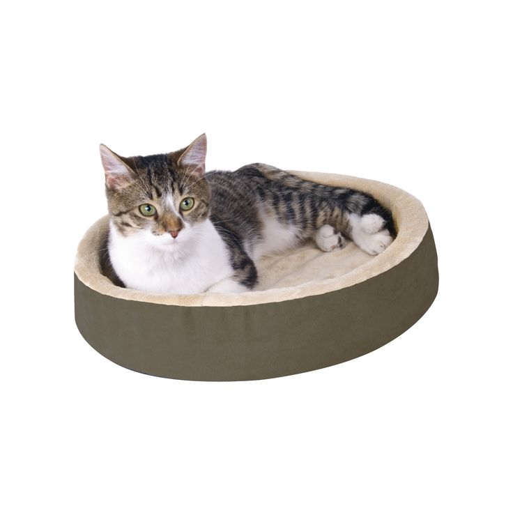 K&H Manufacturing Cuddle Up Heated Cat Bed in Mocha
