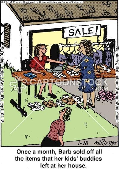 Funny Garage Sale Sale Cartoons Yard Sale Cartoon