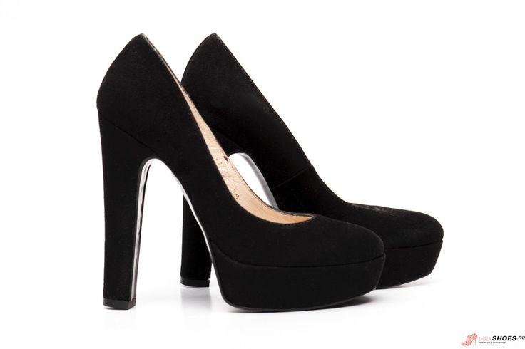Pantofi Platforma  Paco Herrero - Negri - 13cm