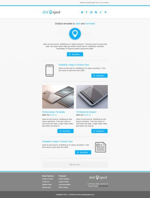 40 Best HTML Email #Newsletter #Templates