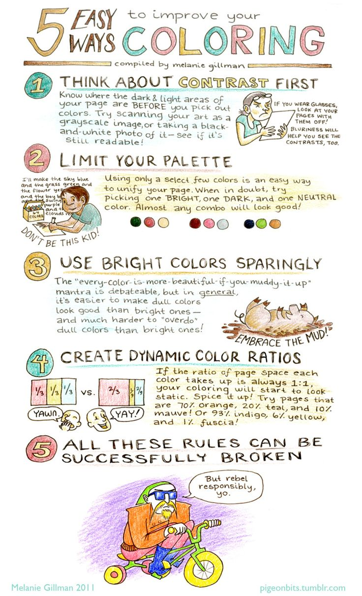 Melanie Gillman :: 5 Easy Ways to Improve Your Coloring << Illustration Friday