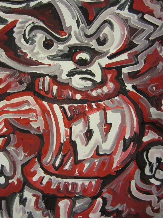 Wisconsin Badgers Painting by Justin Patten by stormstriker, $75.00