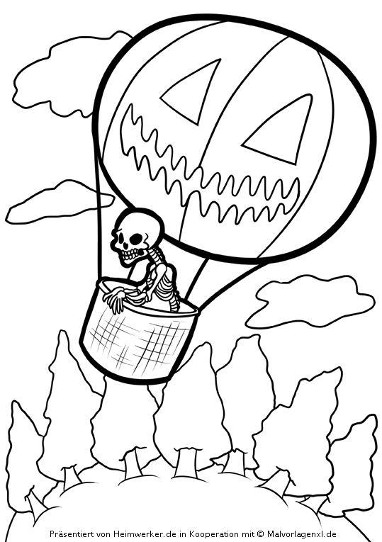 halloween-malvorlagen - kostenlose gruselige horror