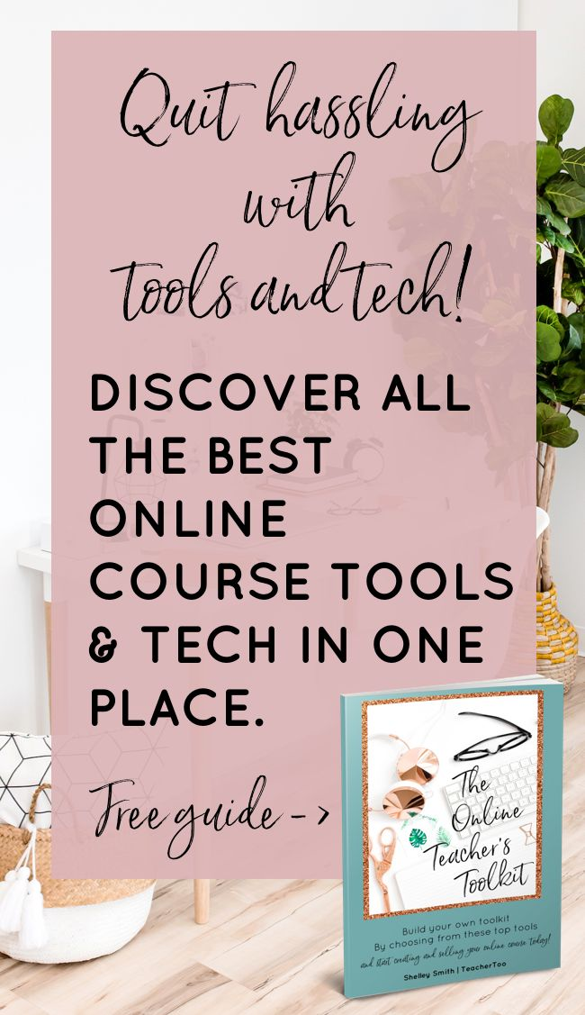 Quit hassling with tools and tech! Discover all the best online course tools & tech in one place- this FREE Online Teacher's Toolkit! Download it now! | Online Teaching | Online Course Creation | Online Teachers | Online Course Tools