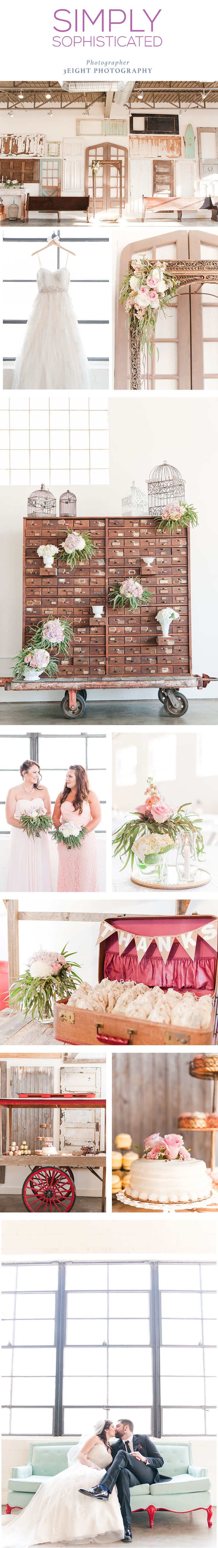 Simply Sophisticated wedding by 3Eight Photography. Read more about is at thepinkbride.com | The Pink Bride® Photo credit: 3Eight Photograpy