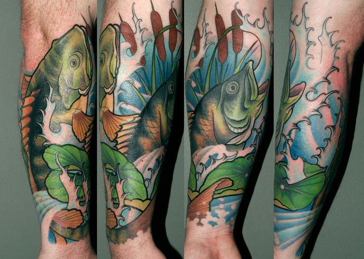 Bass tattoo - done by David Glantz ... the artist I'm hoping will do my sleeve. (Consultation on March 2nd!)