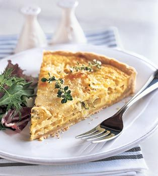 Yellow Squash and Mozzarella Quiche with Fresh Thyme Recipe  | Epicurious.com