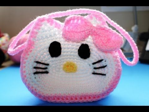 "Crochet ""Hello Kitty"" Inspired Little Girls Purse - All Crafts Channel"