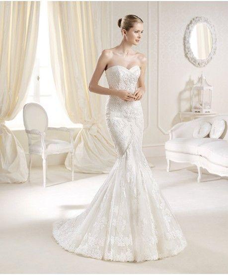 Amazing La Sposa Mullet Panola Size Wedding Dress