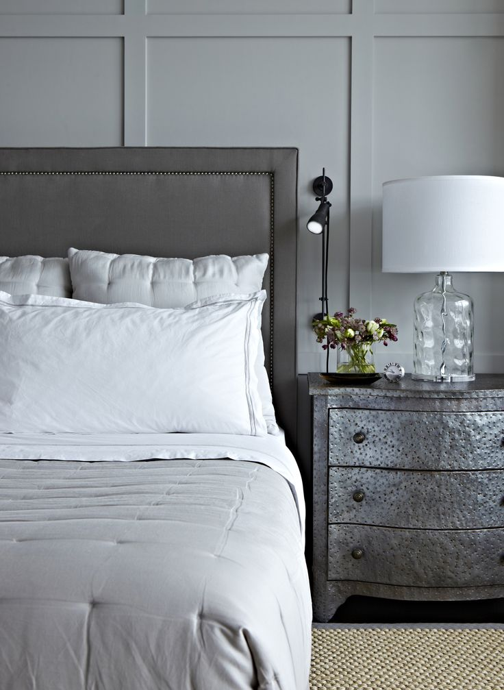 West Village Waterfront || Hammered Zinc Bedside Table || Chango & Co.