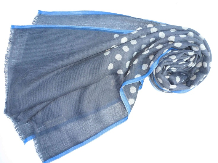 Read + Bell - Grey Spotted Scarf