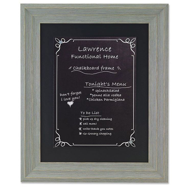 Lawrence Frames Weathered Gray Chalkboard Picture Frame - 536511