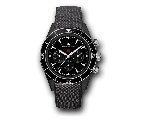 This week we look at a newly launched Deep Sea Chronograph from Jaeger-Le Coultre.    The new Deep Sea Chronograph is housed in a larger 44mm case, crafted from high-tech cermet, a material that consists of aluminum reinforced with particles of ceramic and which is then covered with a protective coating of 40 microns ceramic which gives it supreme anti-scratch robustness as well as superb properties of resistance, lightness and stability.