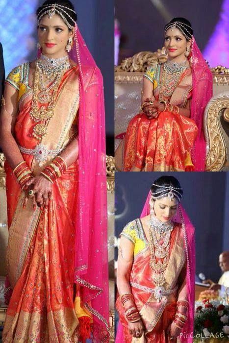Bride in Golden Threads Silk Saree