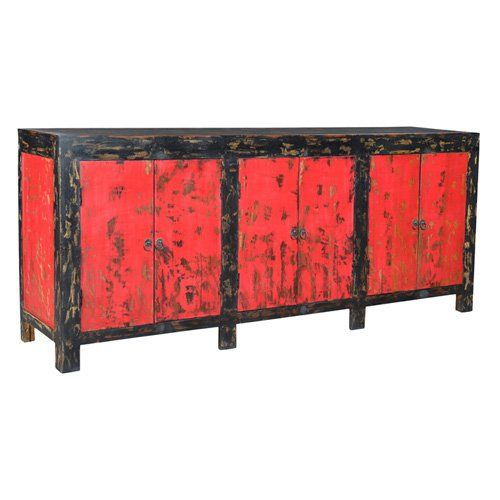 Hinges Design Auro Antique 6 Door Sideboard - 440803