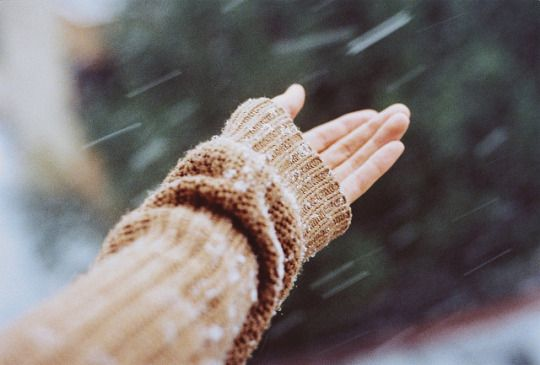 She stepped outside the door, reaching her arms out to feel the first snowfall. After awhile, she started spinning around and giggling with her tongue sticking out to catch the quickly falling crystals of snow. She felt like a small child, and to him, she looked like one. But he didn't care and he didn't judge. He thought she looked adorable, falling more in love with her as each second passed.
