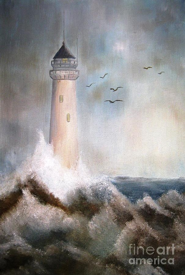 The Lighthouse Painting  - The Lighthouse Fine Art Print