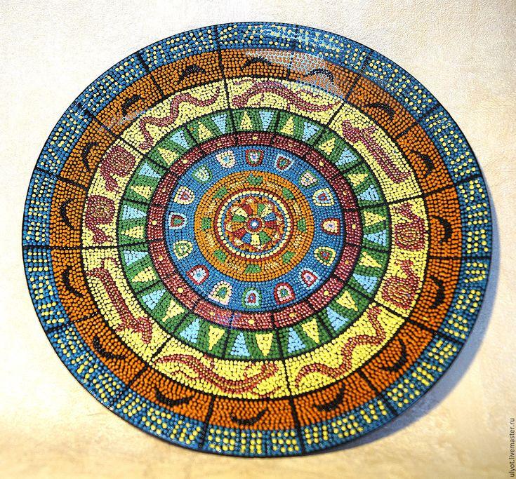 Купить Тарелка декоративная Акуна матата - комбинированный, Тарелка декоративная, тарелка настенная