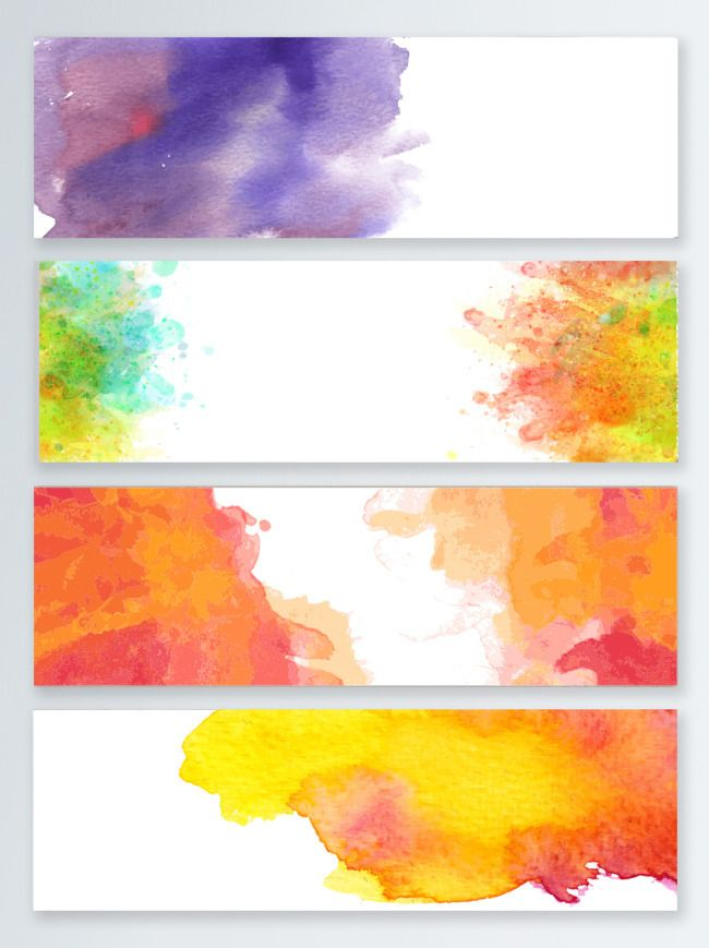 Simple Colored Watercolor Splash Banner Abstract Gradient