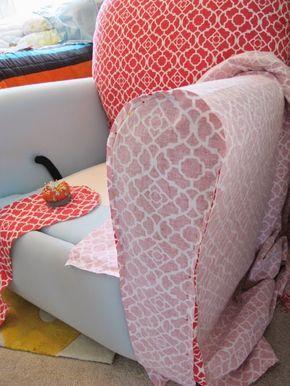 BonnieProjects: Dicas & Truques para o Slipcovering de uma Recliner