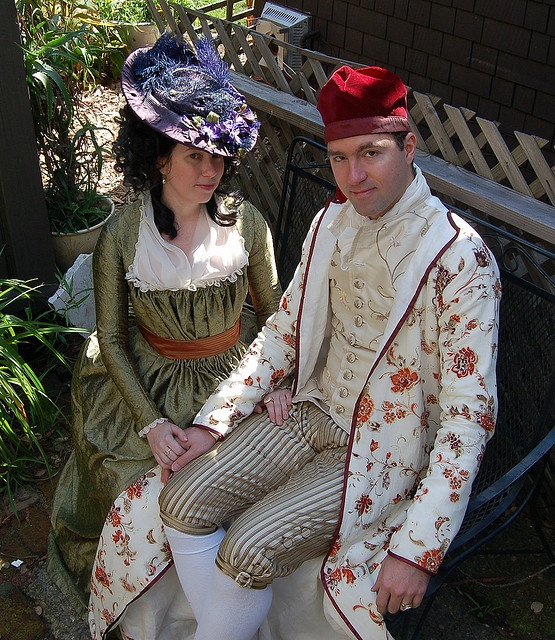 Sarah (of Mode Historique) and Francis (of Raised Heels) at the Duchess of Devonshire Tea 2010, via Sally Norton on Flickr.... Always fun to see someone you know on a random search :)