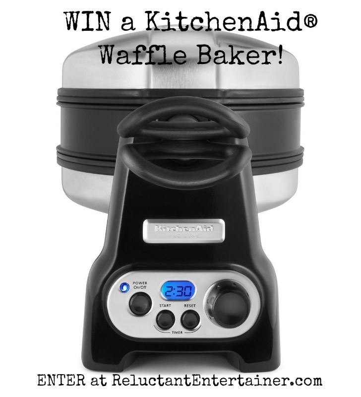 WIN a KitchenAid® Waffle Baker at ReluctantEntertainer.com