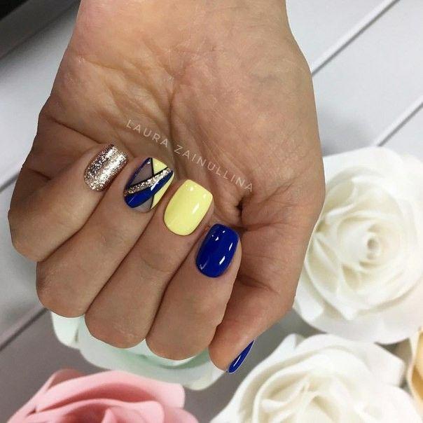 Pin By Chrys Jackson On Dizajn Nails Yellow Nails Yellow Nails Design Yellow Nail Art