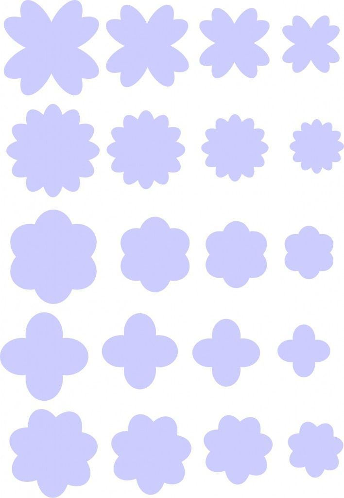 moldes de flores