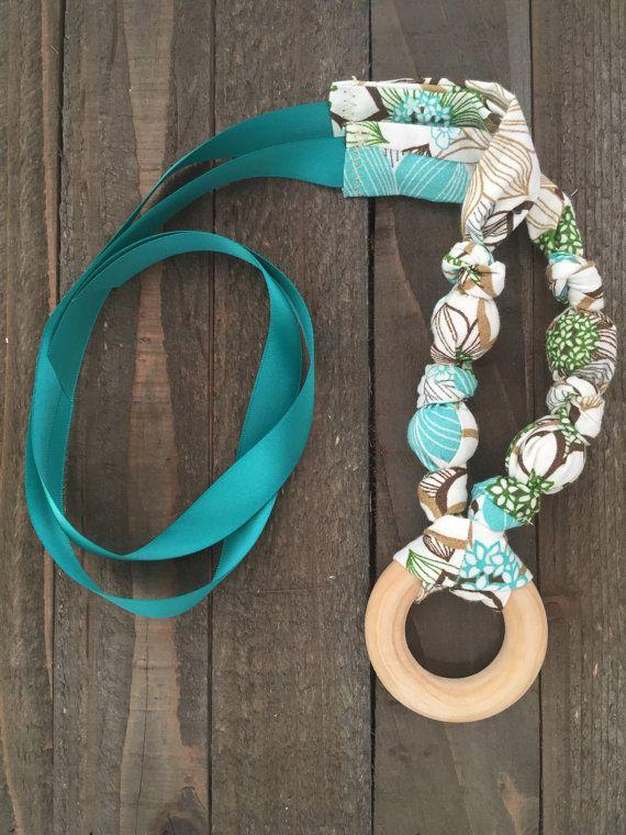 Nursing Necklace Teething Necklace Breastfeeding by CrunchieMomma