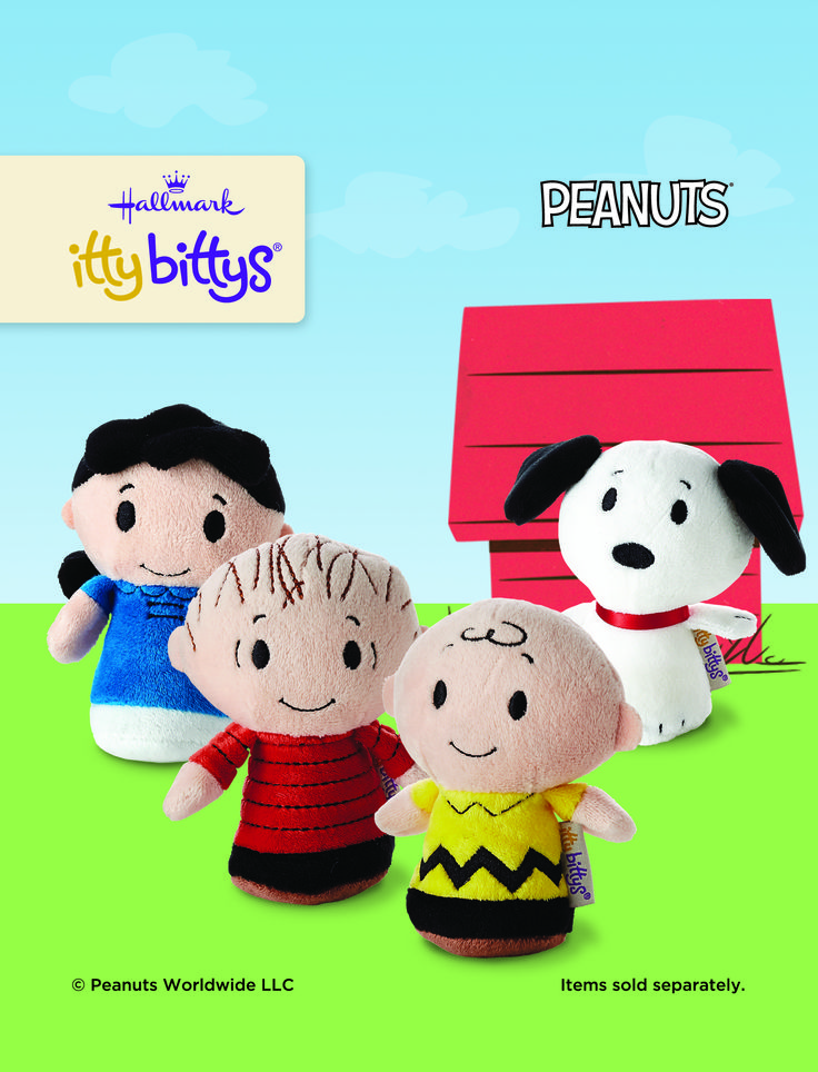 The Peanuts gang is all here! Charlie, Snoopy, Lucy and Linus all look cute in their itty bittys version. #ittybittys @influenster @hallmark